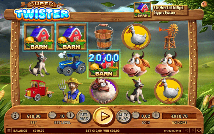 Super Twister, Habanero, Online Casino Bonus