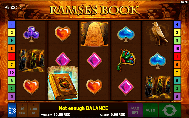 Ramses Book, Gamomat, Online Casino Bonus