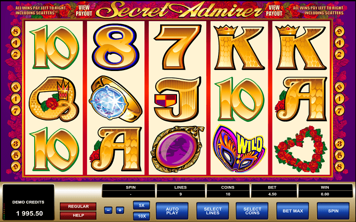 Secret Admirer, Microgaming, Online Casino Bonus