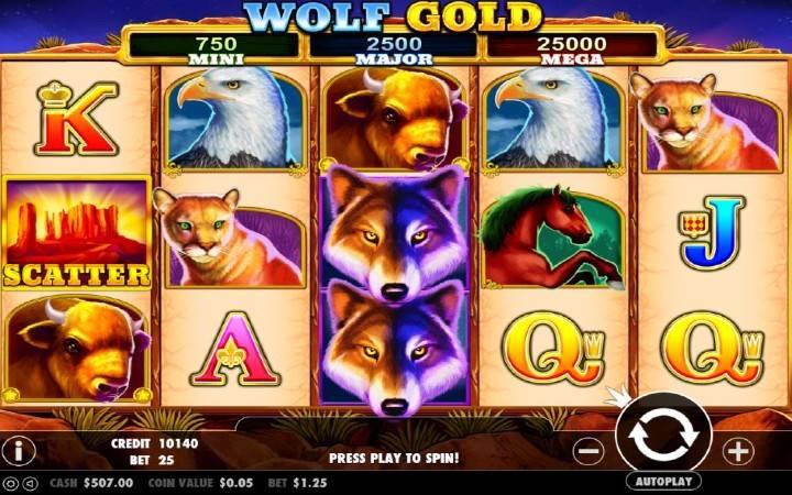 Wolf Gold, online casino bonus