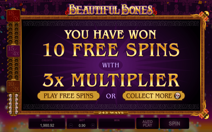 Beautiful Bones, Microgaming, Online Casino Bonus