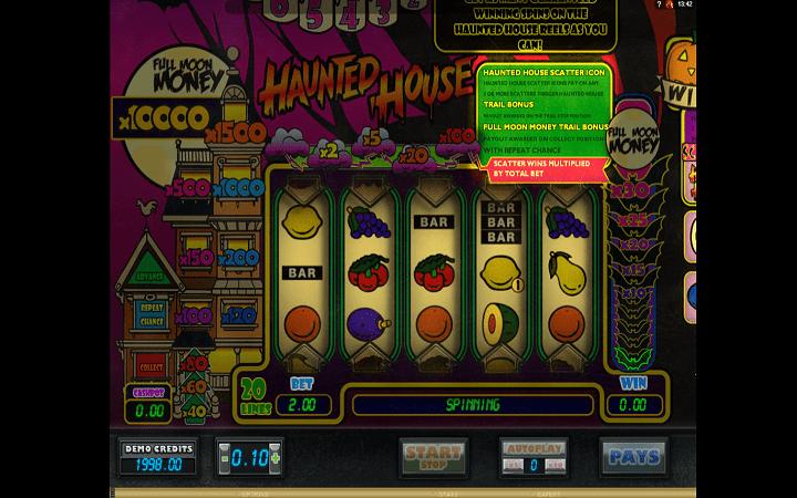 Haunted House, Microgaming, Bonus Casino
