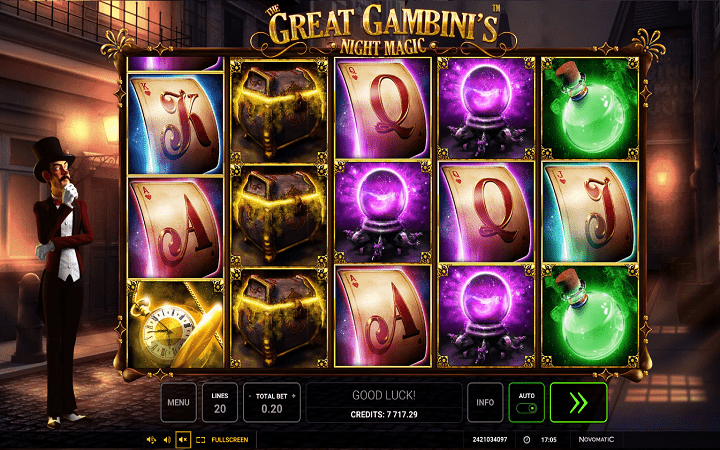 The Great Gambini's Night Magic, Novomatic, Bonus Casino