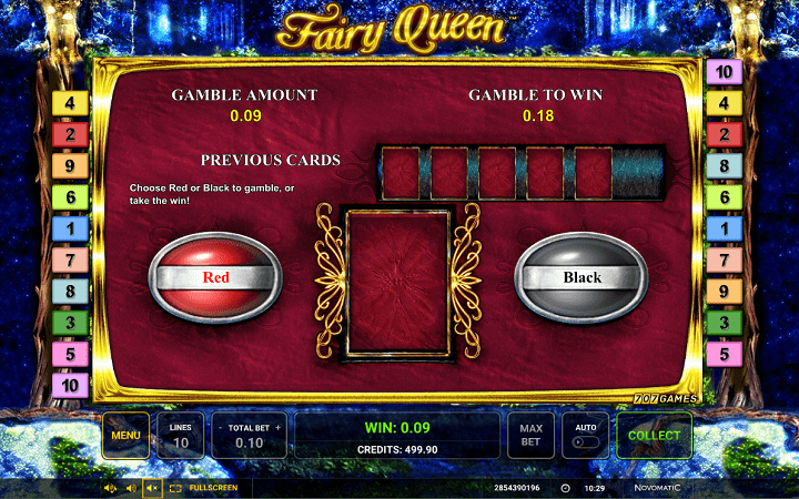 Fairy Queen, Greentube, Novomatic, Online Casino Bonus
