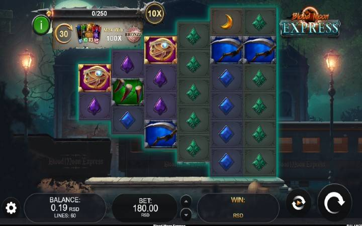 Blood Moon Express, online casino bonus