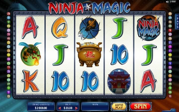 Ninja Magic, Online Casino Bonus