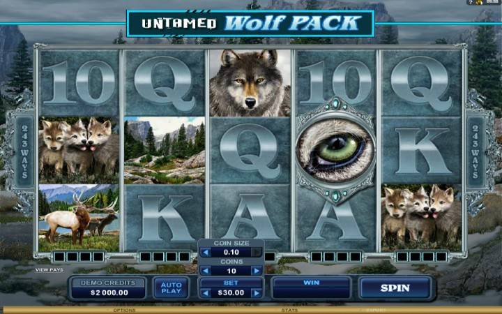 Untamed Wolf Pack, Online Casino Bonus