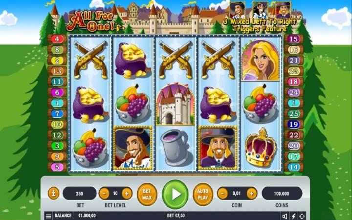 All For One, online casino bonus