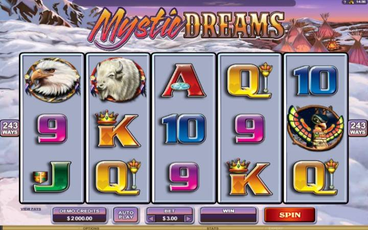 Mystic Dreams, online casino bonus