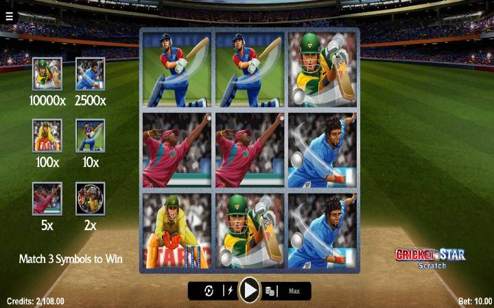 Cricket Star Scratch, online casino bonus