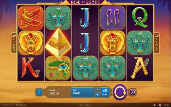 Rise of Egypt, Online Casino Bonus