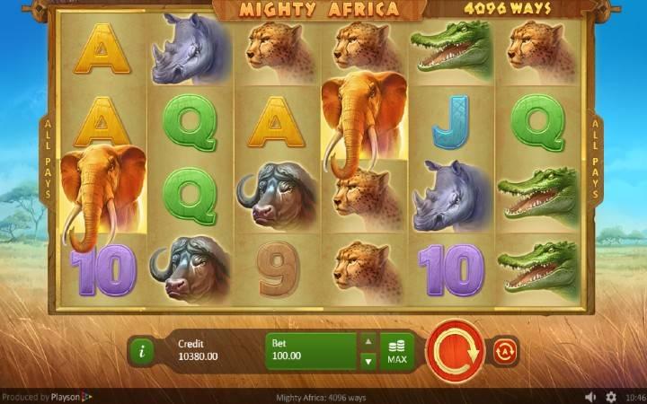Mighty Africa, online casino bonus, kazino igre