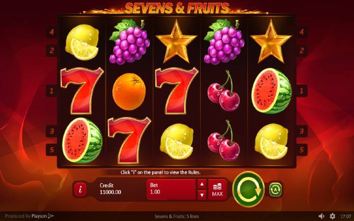 Sevens and Fruits, Online Casino Bonus