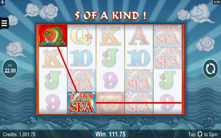 Online Casino Bonus, Emperor of the Sea