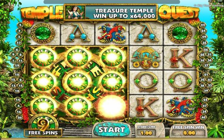 Online Casino Bonus, Temple Quest