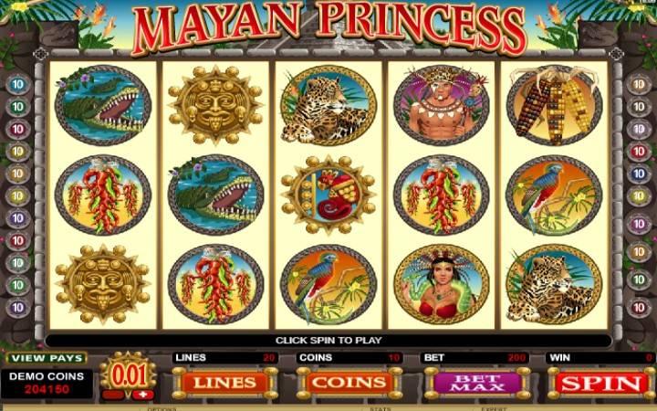 Mayan Princess, online casino bonus