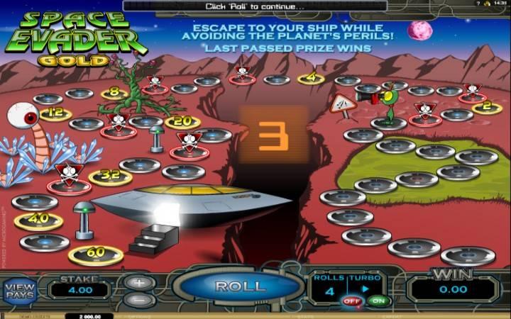 Online Casino Bonus, Space Evader Gold