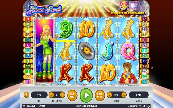 Online casino bonus, disco funk