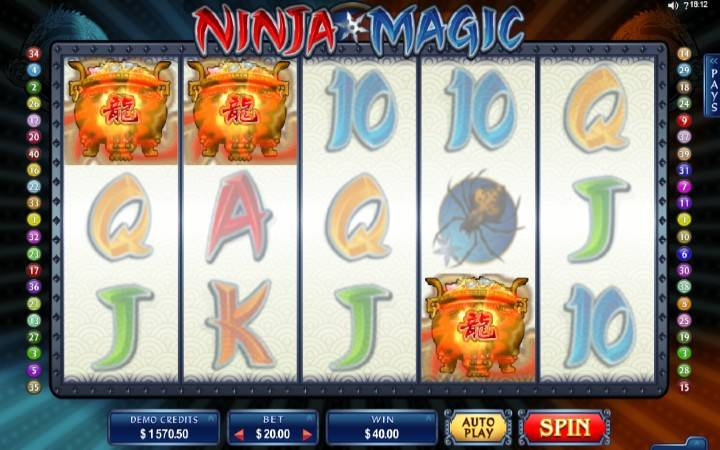 Online Casino Bonus, Ninja Magic