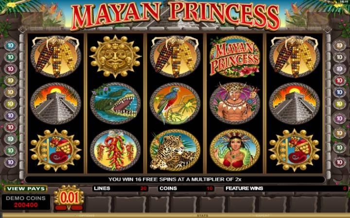 Besplatni spinovi, Mayan Princess
