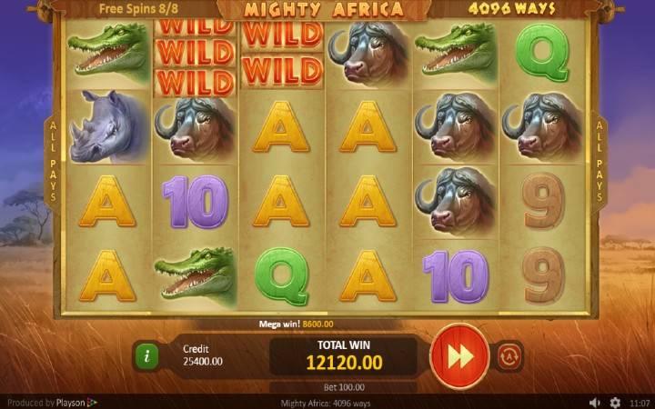 Online casino bonus, online kazino, Mighty Africa