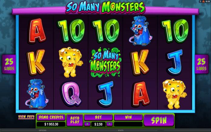 So Many Monsters, Microgaming, Online Casino Bonus