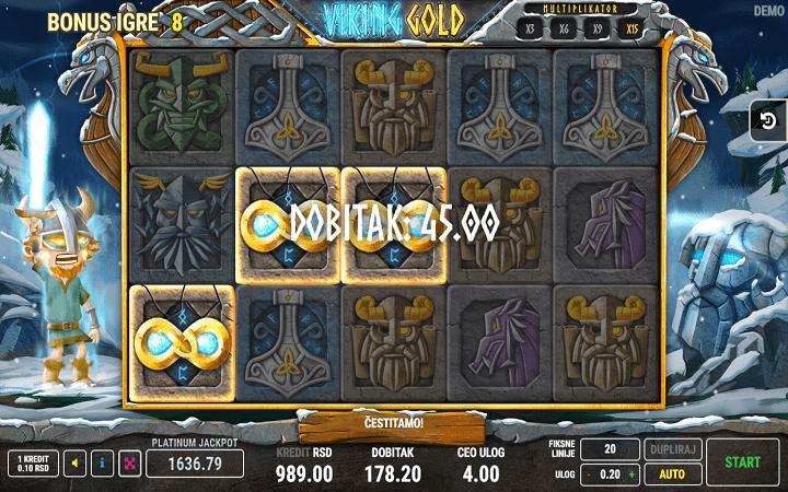 Viking Gold, Fazi, Online Casino Bonus