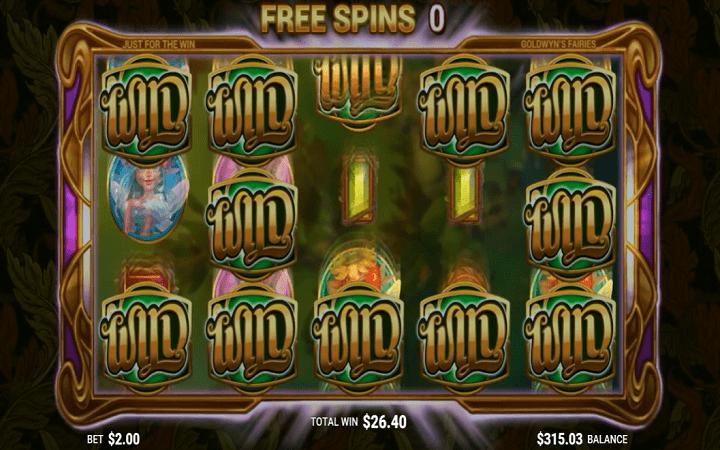Goldwyn's Fairies, Microgaming, Just For The Win, Online Casino Bonus