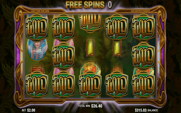 Goldwyn's Fairies, Microgaming, Just For The Win, Online Casino Bonus