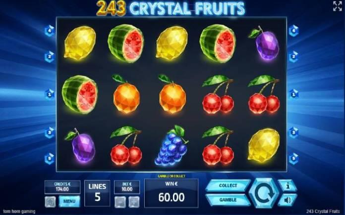 243 Crystal Fruits, Online Casino Bonus