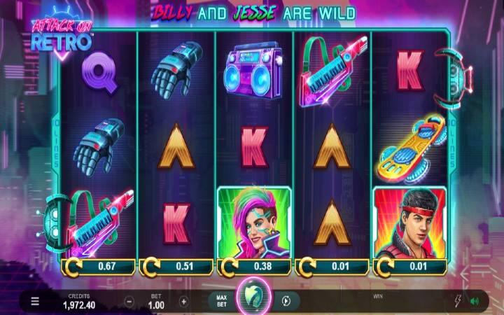 Attack on Retro, online casino bonus, Microgaming