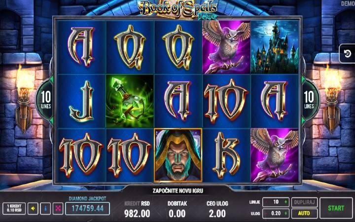 Book of Spells Deluxe, Online Casino Bonus, Fazi