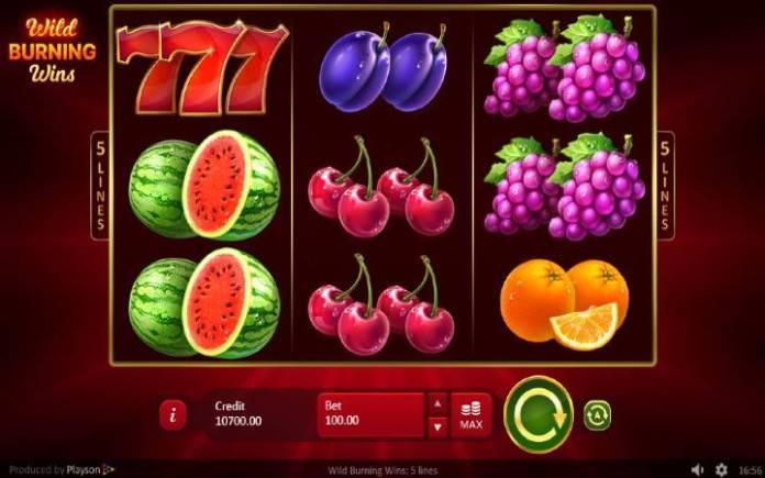Wild Burning Wins, Online Casino Bonus, Playson