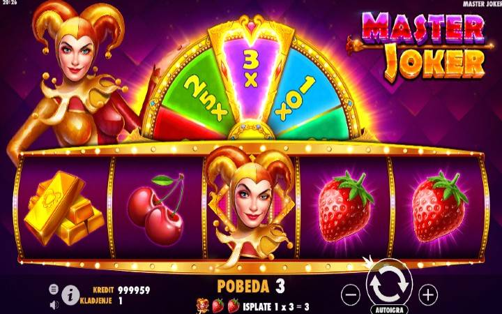 Točak sreće, online casino bonus, Master Joker