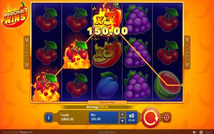 Džokeri, Online Casino Bonus, Red Chilli Wins