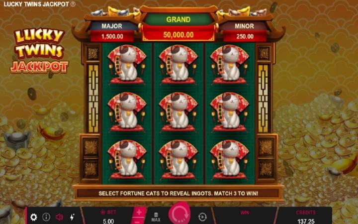 Jackpot, džekpot, Online Casino Bonus, Lucky Twins Jackpot