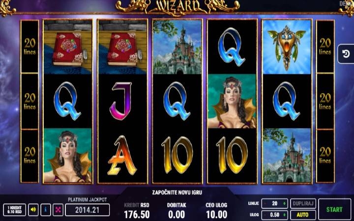 Wizard, Online Casino Bonus
