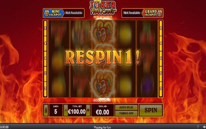Joker's Respins, Joker Hot Reels, Online Casino Bonus, Online Kazino Igre