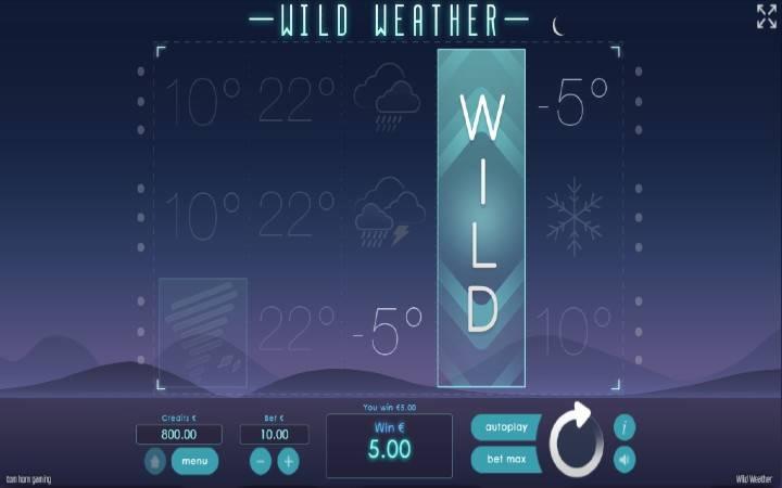 Džoker, Online Casino Bonus, Wild Weather