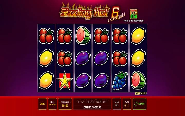 Sizzling Hot 6 Extra Gold, Online Casino Bonus