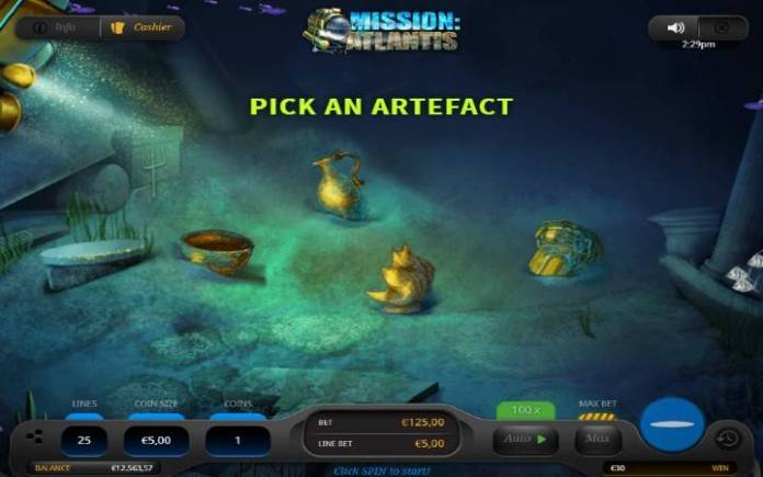 Breakthrough Bonus, Online Casino Bonus, Mission Atlantis