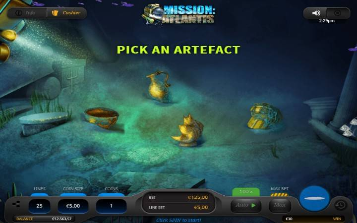 Breakthrough Bonus, Online Casino Bonus, Mission Atlantis