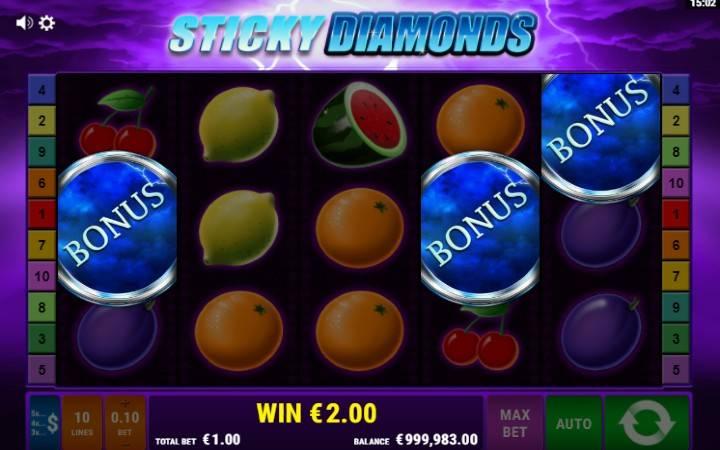 Besplatni Spinovi, Online Casino Bonus, Sticky Diamonds