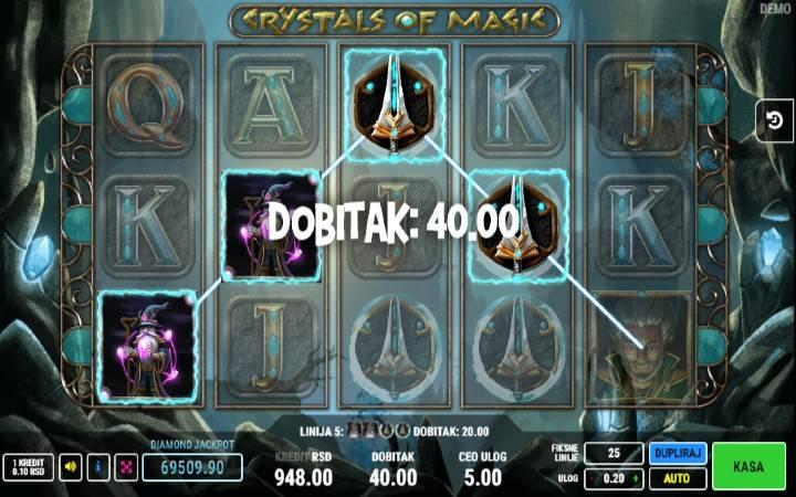 Džoker, Online Casino Bonus, Crystals of Magic