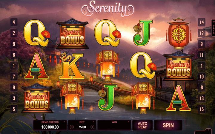 Serenity, Microgaming, Online Casino Bonus