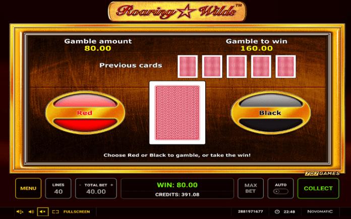 Roaring Wilds, Greentube, Novomatic, Online Casino Bonus
