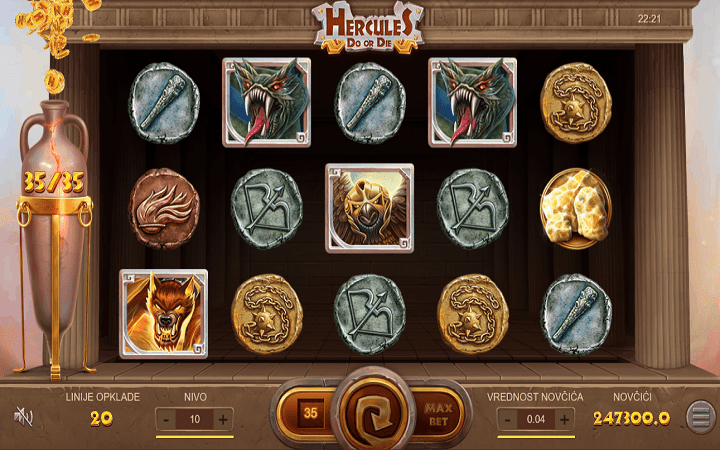 Hercules: Do or Die, Leap, Online Casino Bonus