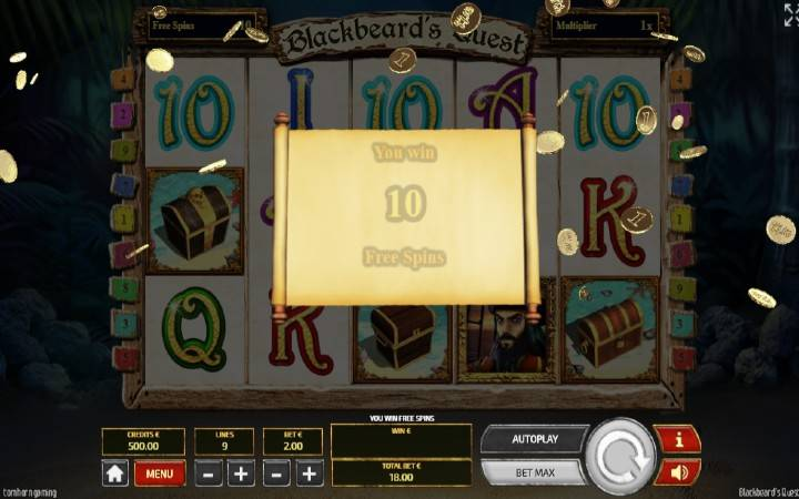 Besplatni Spinovi, Online Casino Bonus, Blackbeards Quest