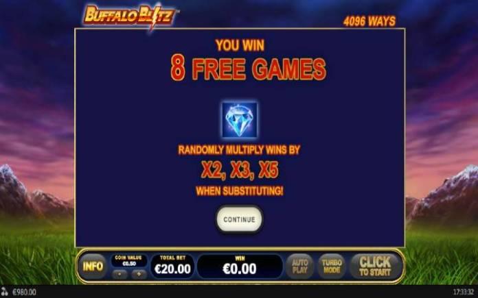 Besplatni Spinovi, Online Casino Bonus, Buffalo Blitz