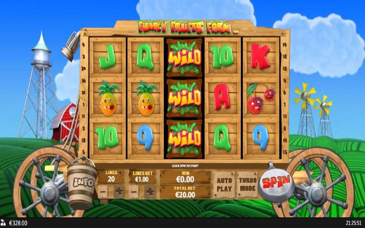 Funky Fruits Farm, Playtech, Online Casino Bonus